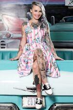 Sourpuss Sweets Carousel Dress Retro Rockabilly 50s Vintage Inspired Cute Skater