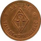 Ancient Accepted Scottish Rite Valley of Springfield, Illinois IL Masonic Token