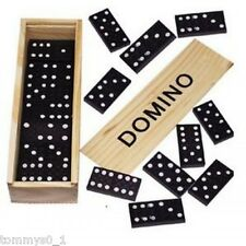 Domino Spielsteine (1x28 St.) in Holzbox 15x5x3 cm Dominospiel Dominosteine