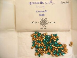 full package,144 swarovski rare fancy stones,7.5mm emerald/gold foiled #211