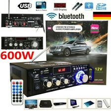 12V Mini 600W Bluetooth HiFi Stereo Verstärker Digital Audio Power Amplifier FM