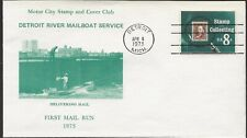 1973 Detroit Riverboat Mail Service, First Mail Service a