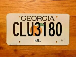 GEORGIA    LICENSE PLATE/TAG ~CLU3180~