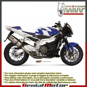 Mivv Exhaust Mufflers Suono Steel for Aprilia Tuono Fighter 1000 2006 > 2010