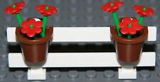 ☀️NEW LEGO City White Fence w/ Flowers Belville House Garden Girl Minifigure #6