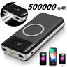 Qi Wireless 500000mAh Power Bank Smart External Battery Charger for Mobile Phone