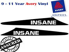 INSANE decal to suit NISSAN Patrol GU 99-07 2 FIN Bonnet Scoop Sticker 4X4