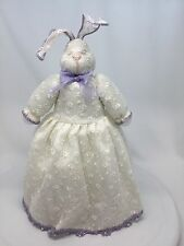 Joelson Rabbit Decorative Bunny Lace Dress Purple Trim & A Heart Nose
