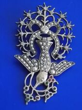 Diamond Sterling Silver Pendant Vintage & Antique Jewellery
