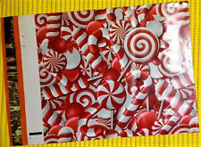 "10 CANDY CANE 6"" x 9"" Poly Mailers + BONUS STICKERS ~ Make Holiday Shipping Fun!"