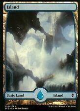 Island FOIL - Version 1 (Full Art) | NM/M | Battle for Zendikar | Magic MTG #256