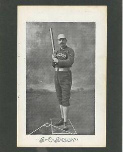 "A. C. ""Cap"" Anson 1885 Chicago White Stockings full batting pose"