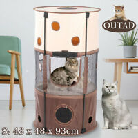 OUTAD 3 Layer Pet Play Tent Easy Set-up Cat Foldable Exercise Travel Play Tent