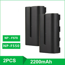 2X 7.2V 2200mAh Li-ion Batteries Fits Sony NP-F550 NP-F570 Cam Batteria Packs