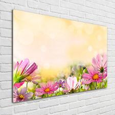 Glas-Bild Wandbilder Druck auf Glas 100x70 Deko Blumen & Pflanzen Mohnblumen