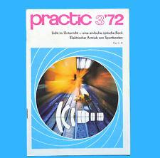 DDR practic 3/1972 Dia-Kopiergerät Bootsmotore Trabant-Staubfilter Mini-Lampe Z
