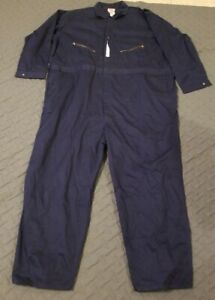 New Coveralls Men's Walls Master Made Blue Twill Long Sleeve Size 62 Regular