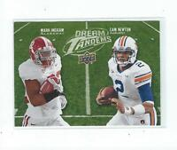 2011 Upper Deck Dream Tandems #14 Mark Ingram/Cam Newton Rookie Alabama Auburn
