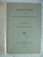 Allocution sur la place publique de Maillane par M. le Chanoine MILLE, 1883