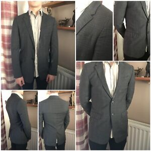 Paul smith checked suit jacket made in Italy 100% wool size 36 the byard