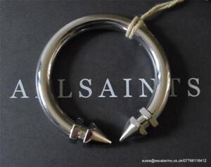 All Saints Nevena Bangle/Bracelet in Polished Silver Colour  BNWT £48