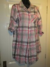PINK WHITE GREY NIGHT SHIRT - Size 12 / 14