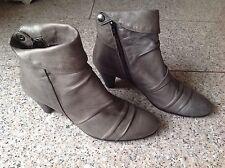 Elegante Fabiani Damen Schuhe Gr. 40 Stiefel Echte Leder