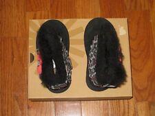 New UGG Australia Girls Eloise Boots Shoes Black Plaid Bow Ruffles 11M