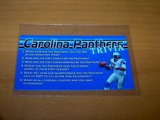 CAROLINA PANTHERS CAM NEWTON 2016 WWW.ONEMILLIONTRACTS.COM TRIVIA PROMO CARD
