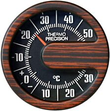 Auto Bimetall Reliefskala Thermometer Holzdesign justierbar RICHTER Art. 4694