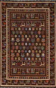 Vegetable Dye Tribal Hand-knotted Geometric Super Kazak Oriental Area Rug 5'x8'