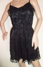 Womens Divided by H&M Black Strappy Lace Short Dress - Size UK 8 EUR 36
