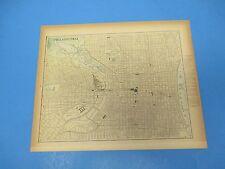 1893 Popular Atlas Map 1 page, Philadelphia, Suitable to Frame, Color