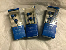 AUVIO 3300922 BLUE PEARL EARBUDS WITH MIC (LOT OF 3) ***NIB***