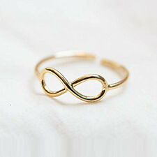Women Simple Retro Infinity Design Adjustable Toe Ring Foot Jewelry CA19EP