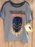 Kids Marvel's  Black Panther Wakanda Forever Tshirt Size 7