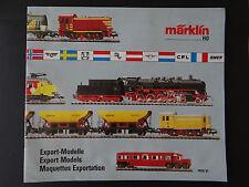 CATALOGUE MARKLIN HO 1990 91 / Export Models Maquette exportation