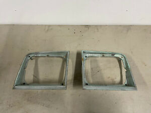 1979-1986 Chevy Chevette Headlight Bezel Doors Pair Original GM