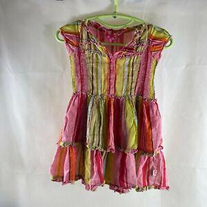 Girls Mim-pi Colorful Striped dress 116 Size 6