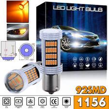 2x 1156 BA15S P21W Amber Yellow High Power 92-4014SMD Turn Signal Light LED Bulb
