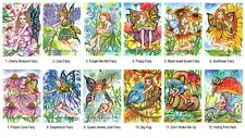 "Set of 12 ACEO Art Card Print 2.5x3.5"" Fantasy Flower Fairy by Patricia"