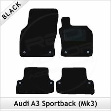 Audi A3 Mk3 Sportback 5-Door 2012 onwards Tailored Carpet Car Floor Mats BLACK