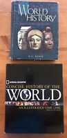 Lot of 2: World History Text & National Geographic Concise History of the World