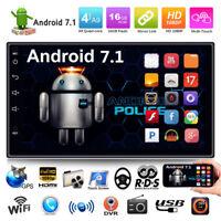 """Quad Core Android 7.1 3G WiFi 7"""" Doppio 2 DIN GPS Autoradio BT Stereo MP3 MP5 FM"""