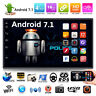 "Quad Core Android 7.1 3G WiFi 7"" Doppio 2 DIN GPS Autoradio BT Stereo MP3 MP5 FM"