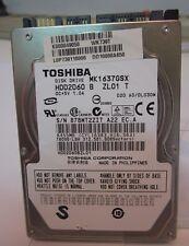 """DISCO DURO TOSHIBA 160GB SATA 2.5"""" MK1637GSX SECTORES DEFECTUOSOS PCB OK"""