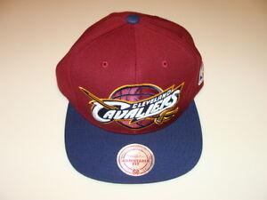 Cleveland Cavaliers Cap Hat Snapback Basketball Mitchell Ness XL Logo NBA 2T