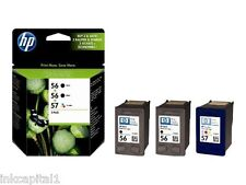 HP 2 x Blk No 56 & 1 x Col 57 Original OEM Inkjet Cartridges