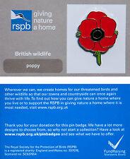 RSPB Pin Badge | Poppy | GNaH backing card [00424]