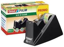 tesafilm Tischabroller, ökologisch, schwarz, Klebeband bis 33m x 19mm, + 1 Rolle